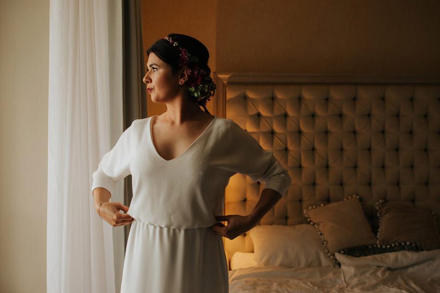 slub w hotelu jablon, panna mloda, boho, wianek