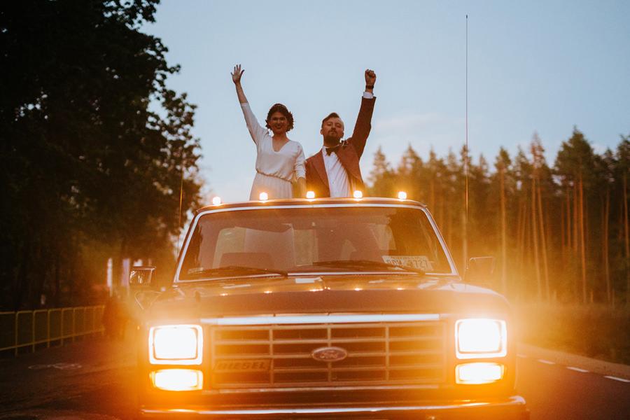 wesele w hotelu jablon, ford pickup, boho,
