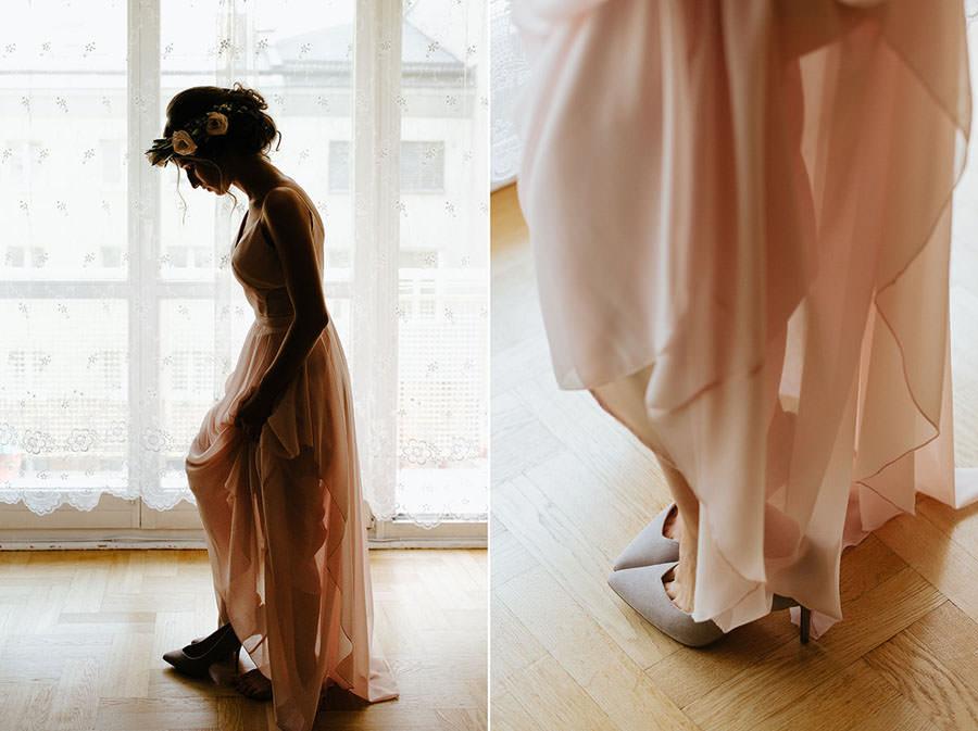 piekny portret panny mlodej, boho bride, spokojna 15,